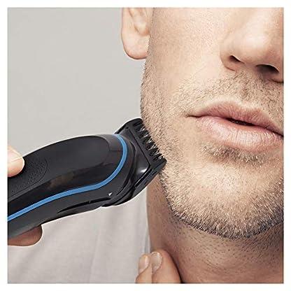 Braun 9-in-1 Multi-Grooming-Kit MGK3085, Barttrimmer und Haarschneider, Körperhaartrimmer, Ohren- und Nasenhaartrimmer, Präzisionstrimmer, lebenslang scharfe Klingen, schwarz/blau 2