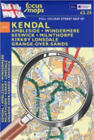 Full Colour Street Map of Kendal Ambleside Windermere Keswick