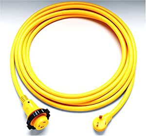 ParkPower by Marinco 25PCMRV RV PowerCord Electrical Power Cordset (30-Amp, 125-Volt, 25-Feet, Yellow)