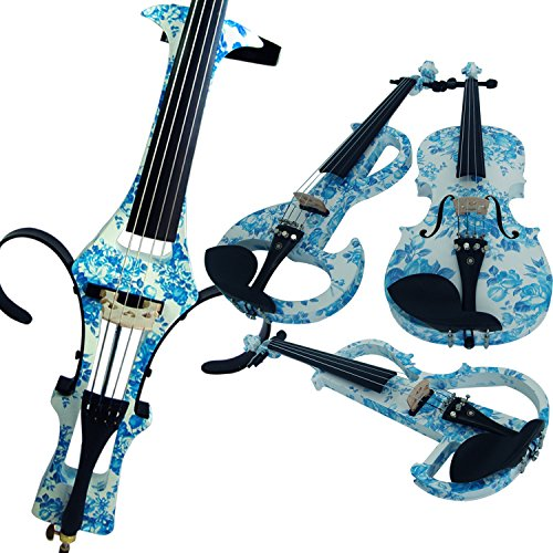 Leeche 100% Handmade Premium Electric Violin Full Size 4 4 Professional Silent Violin For Student Solid Wood(DSZA) by leeche