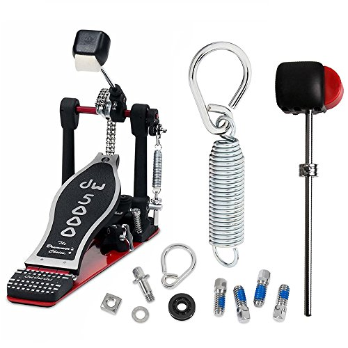 DW DWCP5000AD4 Accelerator Single Bass Pedal Bundle Includes Flyweight Beater, Spring with Felt Insert, Drum Key Screw and Rocker Assembly with Bearing (K2 Insert Screw Kit)