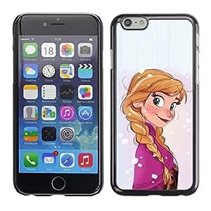 Be Good Phone Accessory // Dura Cáscara cubierta Protectora Caso Carcasa Funda de Protección para Apple Iphone 6 Plus 5.5 // cartoon character kids children's ponytail