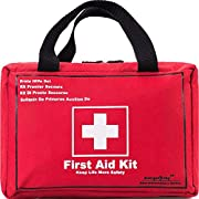 First Aid Kit Survival Kit 130 Pcs,Complete & Compact Medical Emergency Kit Lightweight,First Aid Kit for Car,Home…