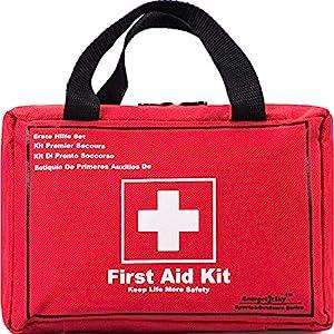 Songwin Botiquín de Primeros Auxilios de 130 artículos,Survival Tools Mini Box -Impermeable Bolsa Médica para el Coche… 3