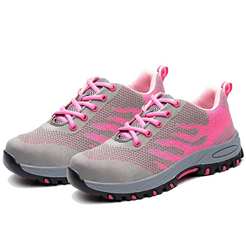 05 Toe Boots Steel Work Shoes Steel Men pink Safety Shoes Toe Men for Shoes SUADEX zwOqvCfz