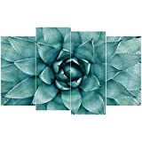 GEVES Succulent Plants Canvas Wall Art Prints Paintings for Living Room Inspire Green Home Decorations Picture Posters Framed Ready to Hang