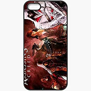 Personalized iPhone 5 5S Cell phone Case/Cover Skin Assassin Killer Ezio Auditor Da Firenze Assassin 39 S Creed Brhood Of Blood Heroes Black