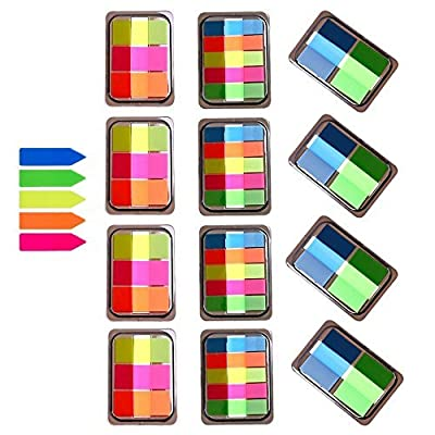 1160 Pieces,15 Sets Index Tabs,Translucent Page Makers,It Post Flags,Sheet Neon Index Tabs Flags Sticky Note for Page Marker