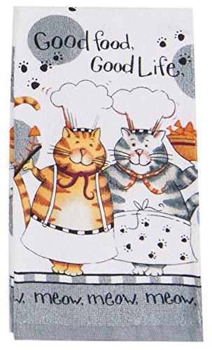 kay dee designs kitchen towels. Kay Dee Designs R2630 Happy Cat Good Life Terry Towel Amazon Com