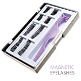 Ultimate Dual Magnetic False Eyelashes Extension Set (8 pieces) - Full Size and Half Size Fake Lashes in One Set with Applicator - Best Reusable and Easy to Apply Ultra Thin Magnets - Natural Look