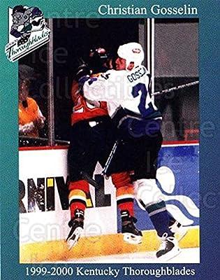 (CI) Christian Gosselin Hockey Card 1999-00 Kentucky Thoroughblades 12 Christian Gosselin