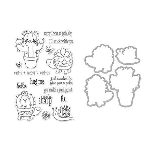 Hero Arts Clear Stamps and Frame Cuts Die Combo, Cactus Animals by Hero Arts