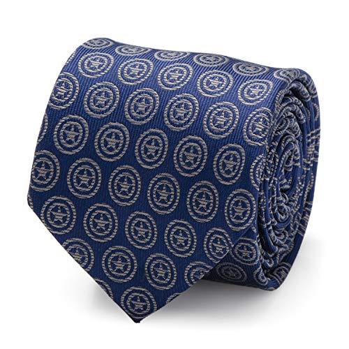 Marvel Captain America Shield Blue Men's Tie, Officially Licensed