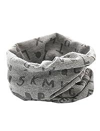 Changeshopping Autumn Winter Boys Girls Collar Baby Scarf Cotton O Ring Neck Scarves (Gray 4)