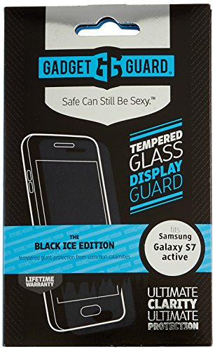 Gadget Guard Black Ice Edition Tempered Glass Screen Guard For Samsung Galaxy S7 Active - Clear by Gadget Guard