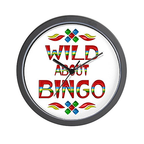 CafePress Wild About Bingo Wall Clock Unique Decorative 10