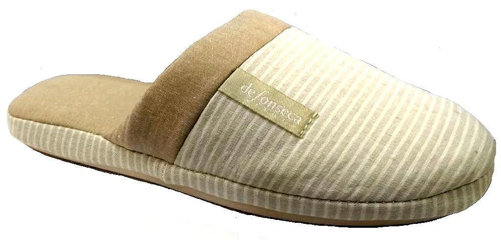 De Fonseca Ciabatte Pantofole Cotone da Donna Donna Donna MOD. Roma Top W302 Tortora  - f59406