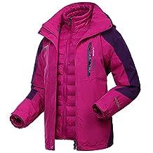 Dnstar Women's 3 in 1 Ski Jacket Down Waterproof winter Coat Work Plus Size