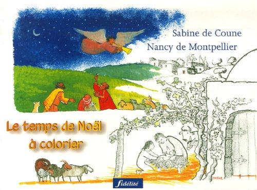 Le temps de Noël à colorier