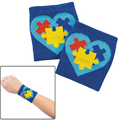 Autism Awareness Wristbands (12 Pack) Cotton. 3 1/2' X 7'