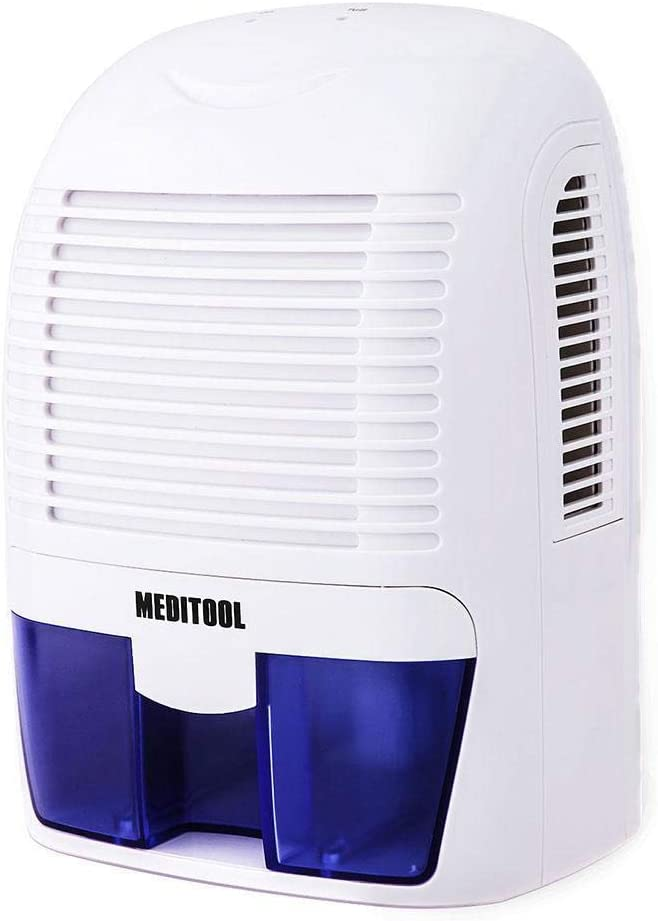 Acazon Home Portable Dehumidifier, Electric Mini Dehumidifier with 1.5L Water Tank, 2200 Cubic Feet, Small Dehumidifiers for Bedroom Home Bathroom Basements Office Travel Closets White, 1.5L