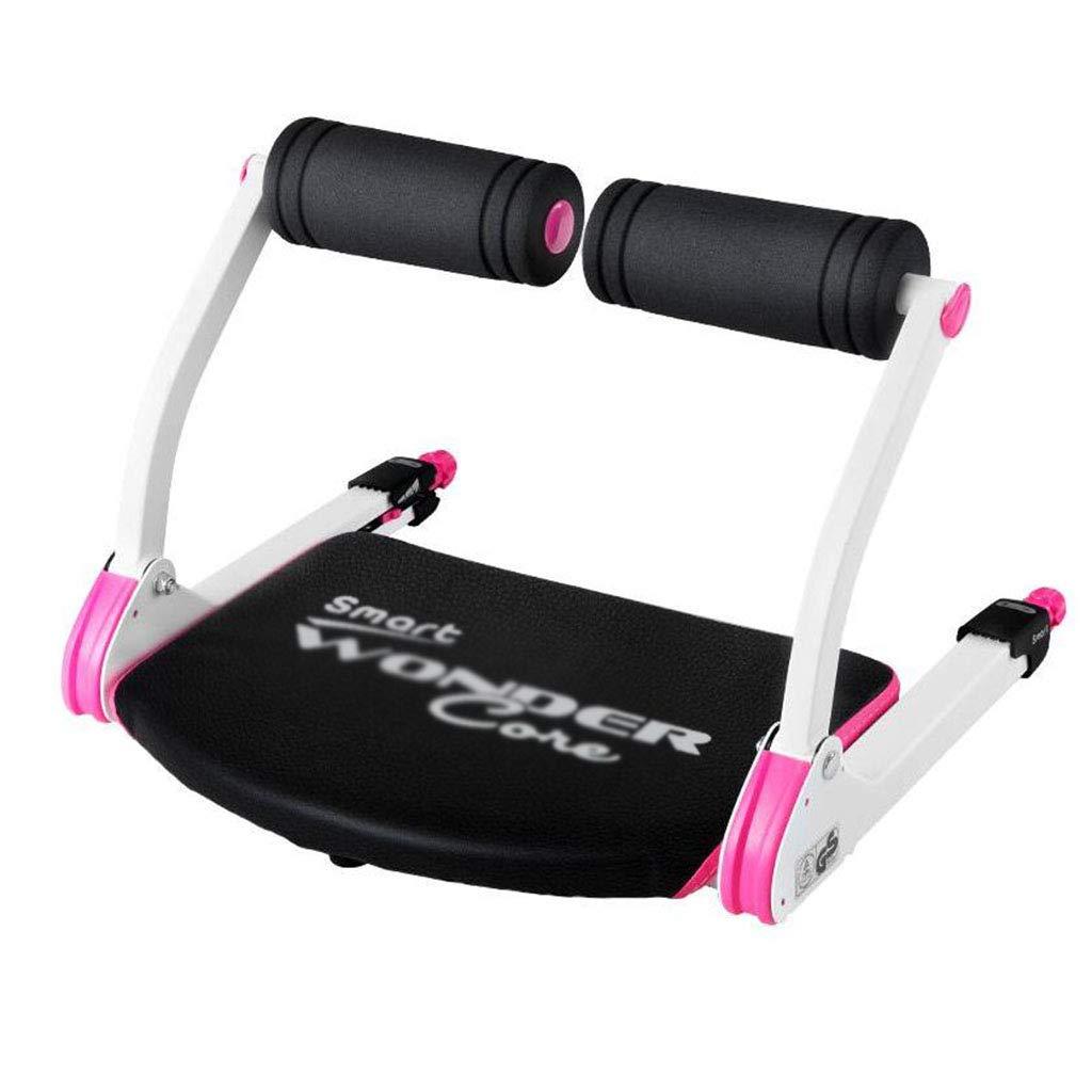 腹筋器具 腹部のコアトレーニング機器の腹筋減量フィットネス機器の運動腹部の腰の運動 (Color : Pink, Size : 55*52*38cm) B07JYPDKQD  Pink 55*52*38cm