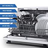 Farberware FCD06ASWWHC Countertop Dishwasher, 6