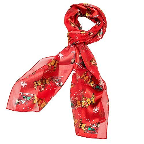 Tone Two Sleigh (Purple Box Jewelry Christmas Scarf (Sleigh Red))