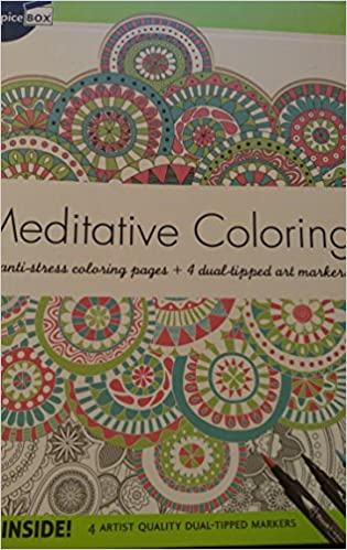 Amazon Meditative Coloring 50 Anti Stress Pages 4 Dual Tipped Art Markers 9781771323451 SpiceBox Books