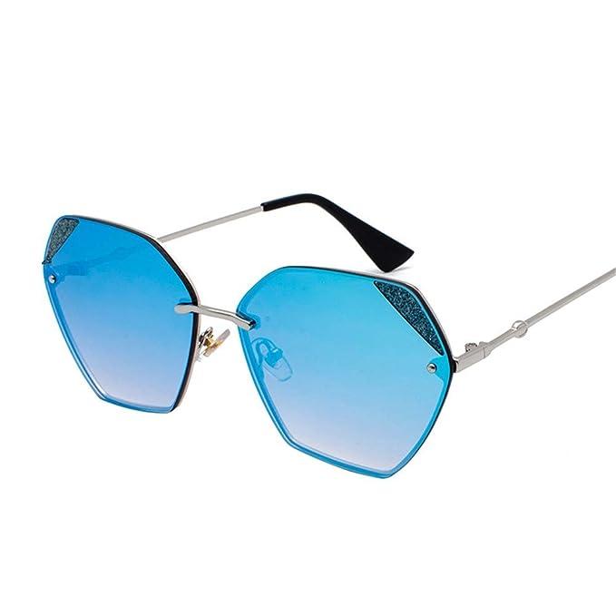 SenDi Gafas de sol-Polígono gafas de sol de montura sin ...