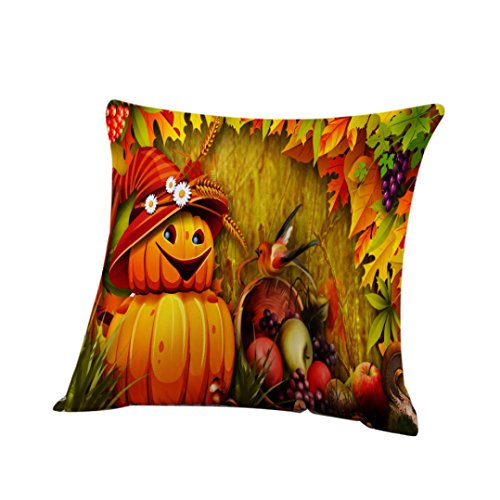 Halloween Pillow Cases,SUPPION Happy Halloween Pillow Sofa Pumpkin ghosts Cushion Cover Home Decor (G)