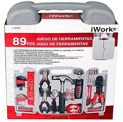 iWork L-79-656 Juego de herramientas de 89 piezas en maletín 2.2 x