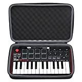 Akai MPK Mini Case, XANAD Case for Akai Professional MPK Mini MKII | 25-Key Ultra-Portable USB MIDI Drum Pad & Keyboard Controller