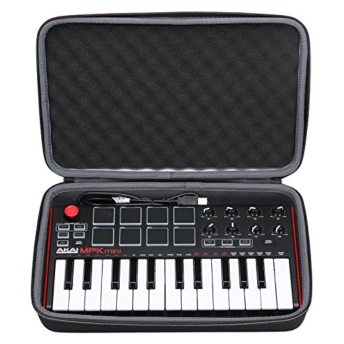 Akai MPK Mini Case, XANAD Case for Akai Professional MPK Mini MKII | 25-Key Ultra-Portable USB MIDI Drum Pad & Keyboard Controller by XANAD