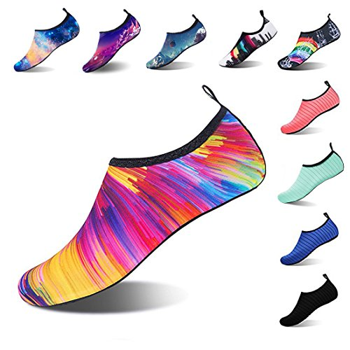 APTRO Womens Water Shoes Lightweight Beach Shoes for Swimming Kayaking Walking Dazzles US (W:7.5-8)-(Men:7-7.5)