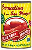 Carmelina San Marzano Italian Whole Peeled Tomatoes in Puree, 14.28 ounce (Pack of 12)