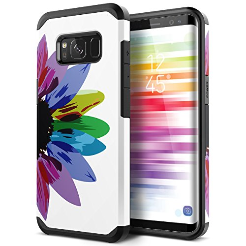Galaxy S8 Plus Case, SmartLegend 2 in 1 Hybrid Dual Layer Heavy Duty Protection Impact Resist Armor Protective Case with Shockproof Rubber Bumper for Samsung Galaxy S8 Plus - Sunflower