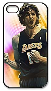 icasepersonalized Personalized Protective Case For Ipod Touch 5 CoverPau Gasol, NBA Los Angeles Lakers