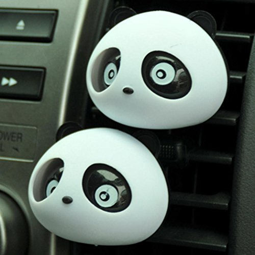 Alonea 2 X Panda Cute Car Perfume Air Freshener Auto Accessory For Car (Black)