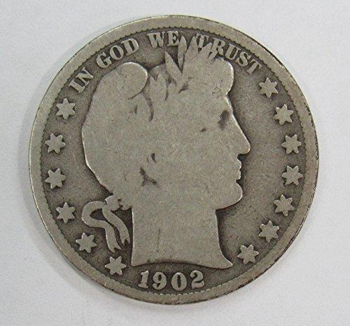 1902 S Barber Half Dollar 50c VG