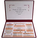 PERSONALISED DAY YOU WERE BORN BIRTHDAY GIFT FOLDER - For any date back to 1900!