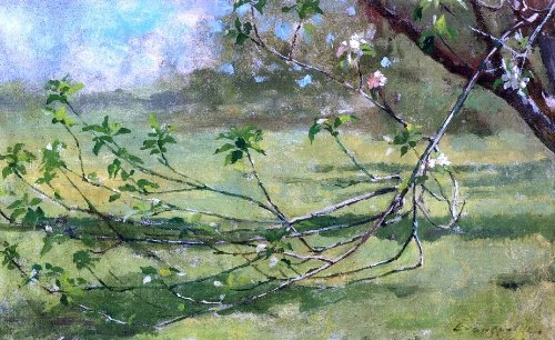 Art Oyster Theodore Robinson Apple Blossoms - 16.05