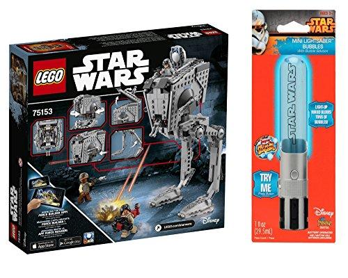 Bundle LEGO STAR WARS AT-ST Walker 75153 with Rare Star Wars Bubble Light Saber 450 total parts