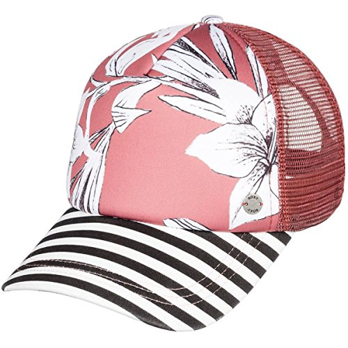 Rose Trucker Hat - Roxy Junior's Water Come Down Trucker Hat, Withered Rose Lily House, One Size