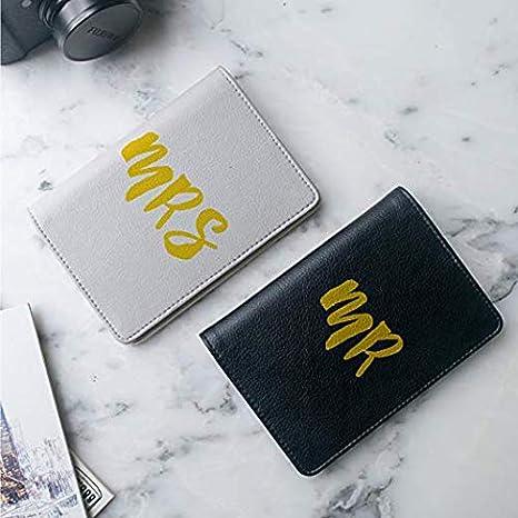 Travel Gift Mr White-Black Leather Passport Cover Passport Holder Case for Men /& Women Wanderlust Collection