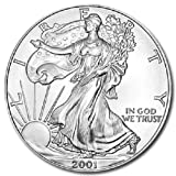 2001 – 1 Ounce American Silver Eagle Low Flat Rate Shipping .999 Fine Silver Dollar Uncirculated US Mint