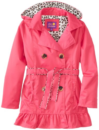 Pink Platinum Girls 7-16 Double Leopard Trench