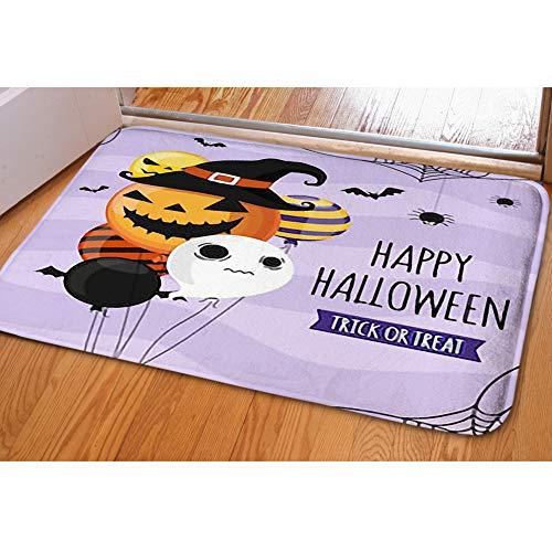 (iBathRugs Door Mat Indoor Area Rugs Living Room Carpets Home Decor Rug Bedroom Floor Mats,Halloween Invitation Card Party)