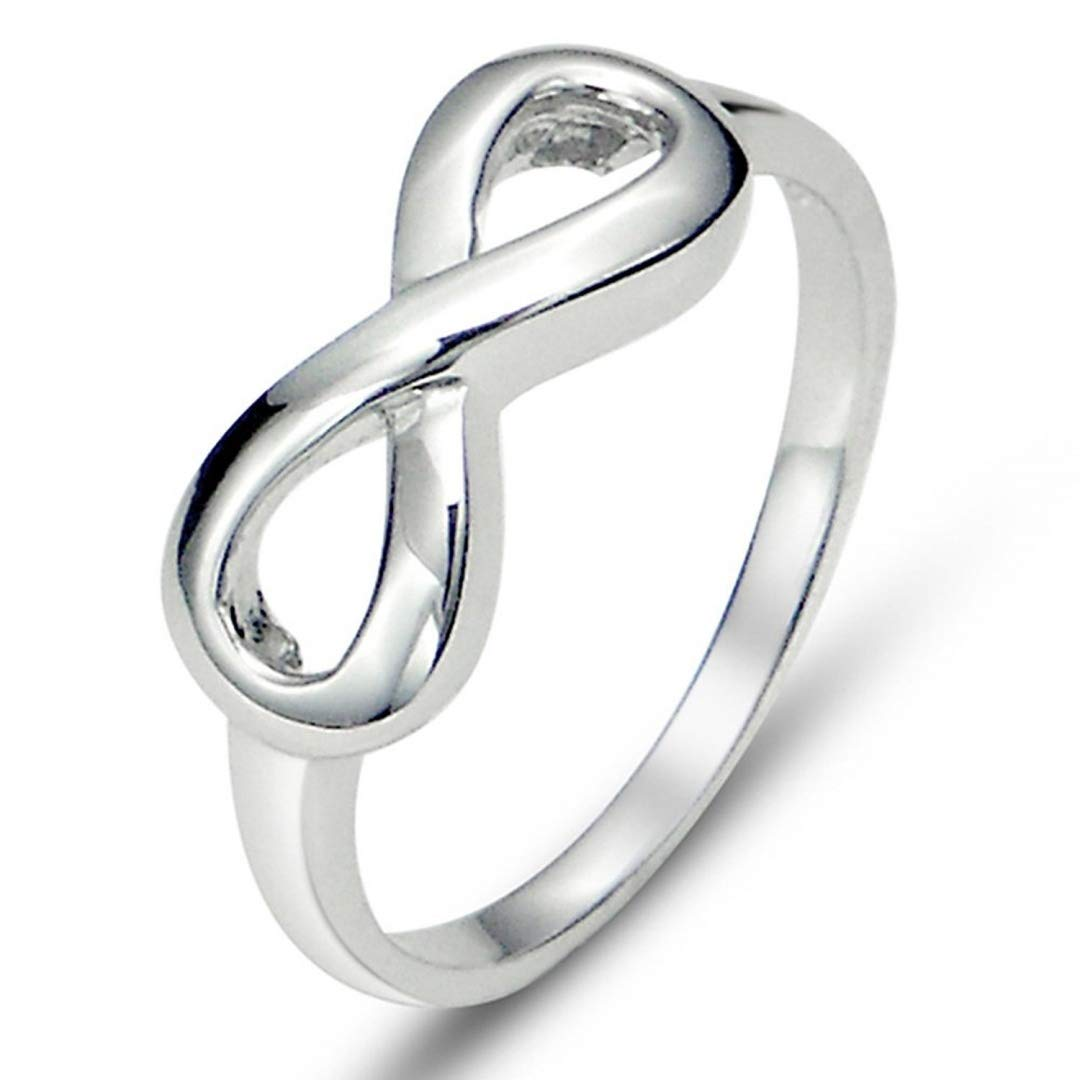 925 Sterling Silver Infinity Symbol Wedding Band Ring (10)