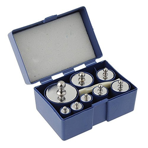 MAGIKON 8 Pieces 1000 Gram Stainless Steel Calibration Weight Set (500g 200g 2x100g 50g 20g 20g 10g) with Case and Tweezers for Digital Scale by MAGIKON